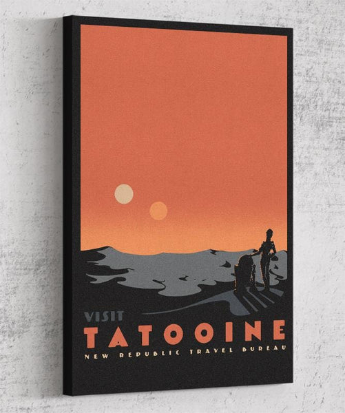 Visit Tatooine Canvas by Mathiole - Pixel Empire