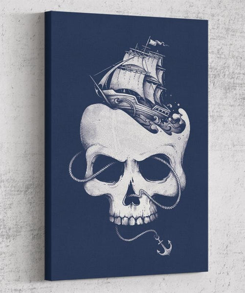 Sailing The Dead Sea Canvas by Enkel Dika - Pixel Empire
