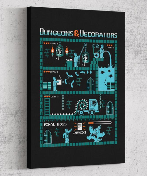 Dungeons And Decorators Canvas by Eduardo San Gil - Pixel Empire