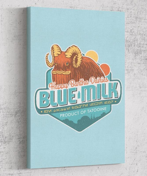 Blue Milk Canvas by Cory Freeman Design - Pixel Empire