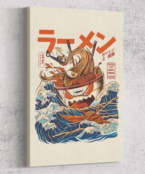 Great Ramen Off Kanagawa Canvas by Ilustrata - Pixel Empire