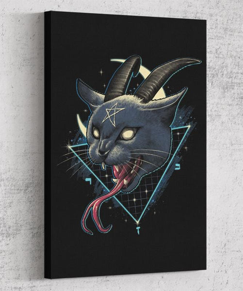 Rad Devil Cat Canvas by Vincent Trinidad - Pixel Empire