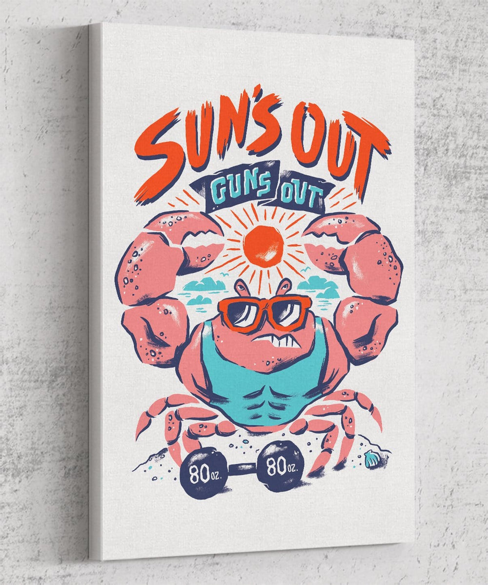 Suns Out Guns Out Canvas by Chris Phillips - Pixel Empire