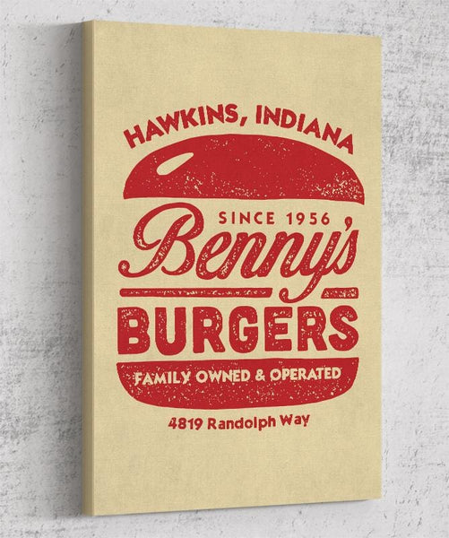 Benny's Burgers Canvas by Cory Freeman Design - Pixel Empire