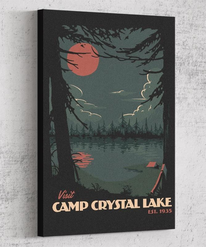 Visit Crystal Lake Canvas by Mathiole - Pixel Empire