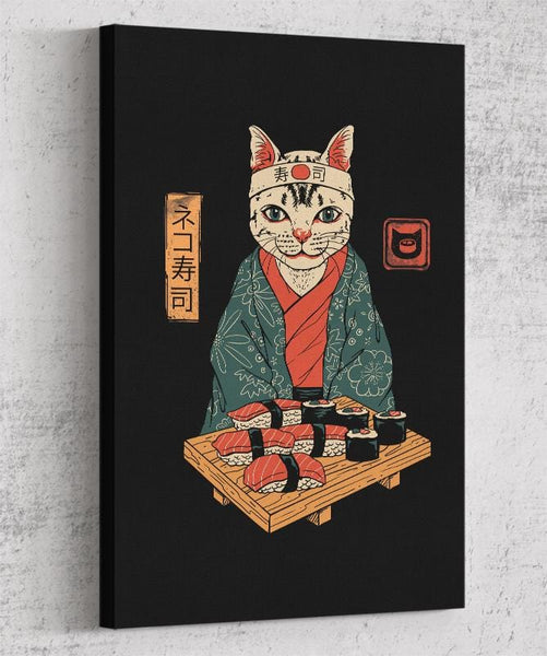 Neko Sushi Bar Canvas by Vincent Trinidad - Pixel Empire