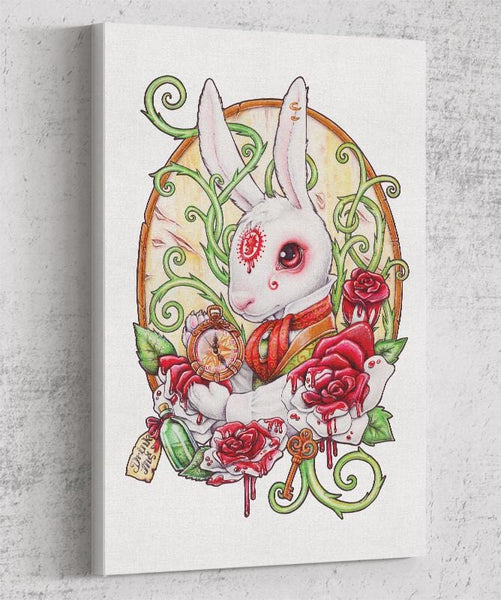 White Rabbit Canvas by Medusa Dollmaker - Pixel Empire