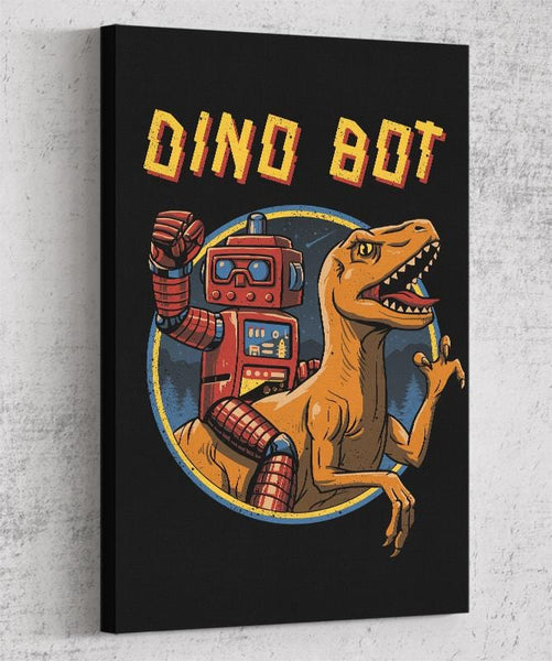 Dino Bot Canvas by Vincent Trinidad - Pixel Empire