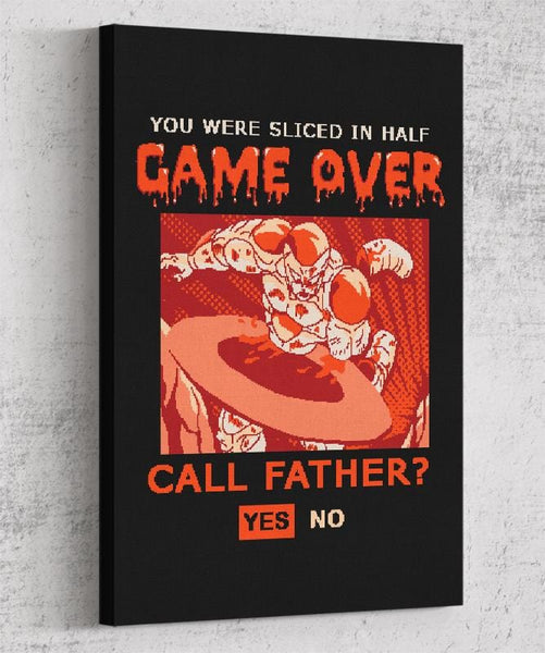 Game Over Frieza Canvas by Cod Designs - Pixel Empire