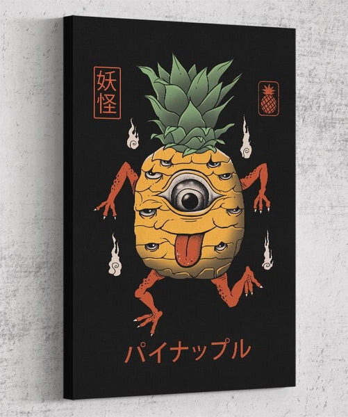 Yokai Pineapple Canvas by Vincent Trinidad - Pixel Empire