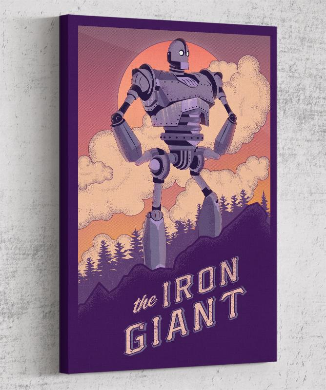 The Iron Giant Canvas by The Usher Designs - Pixel Empire