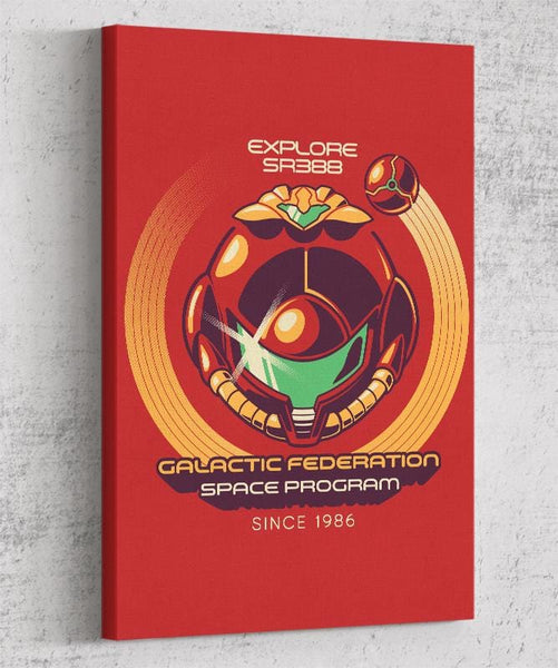Galactic Federation Canvas by Ilustrata - Pixel Empire