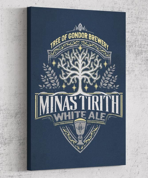 Minas Tirith White Ale Canvas by Cory Freeman Design - Pixel Empire