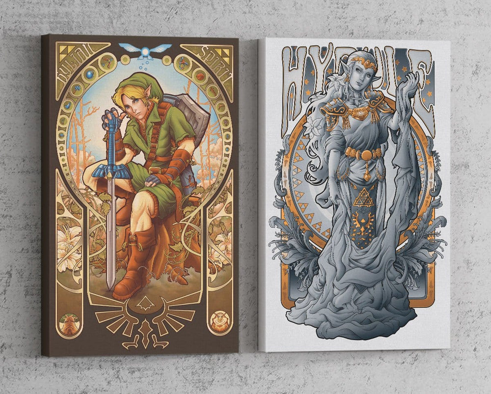 Hyrule Nouveau Set Canvas by Saqman - Pixel Empire