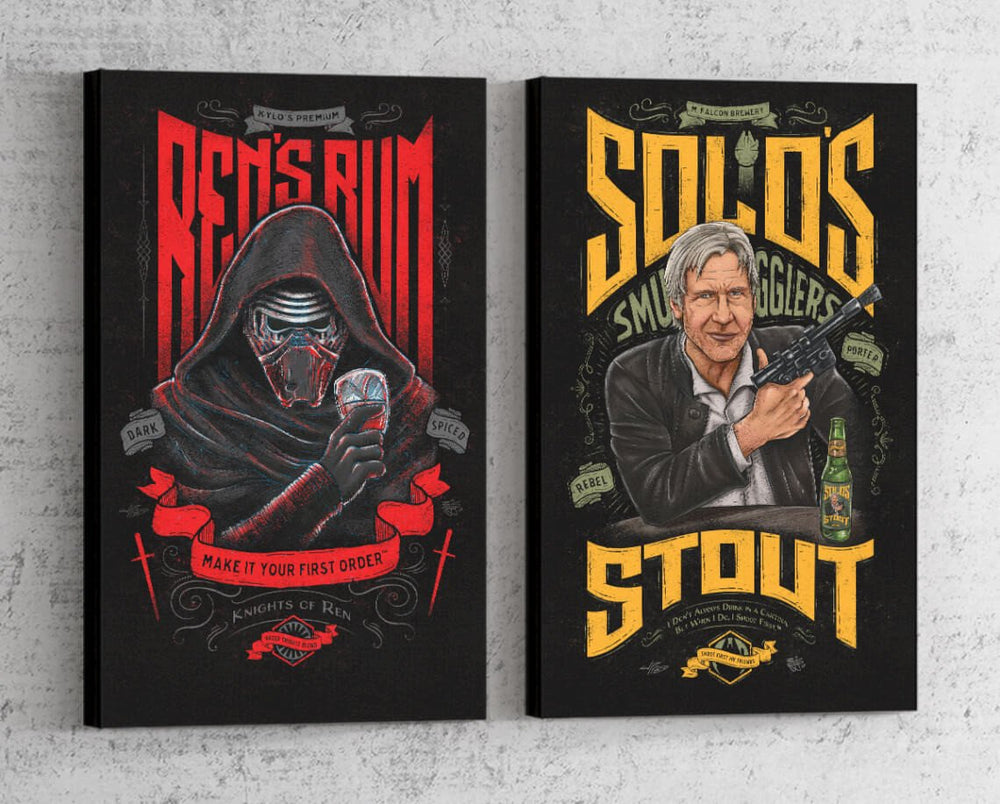 Star Wars Beverage Set Canvas by Barrett Biggers - Pixel Empire