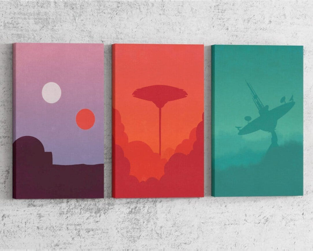 Star Wars Minimalist Series Canvas by Dylan West - Pixel Empire