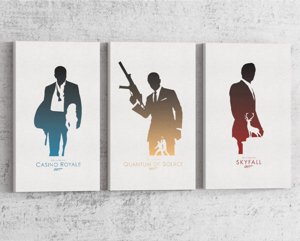 007 Daniel Craig Series Canvas by Dylan West - Pixel Empire