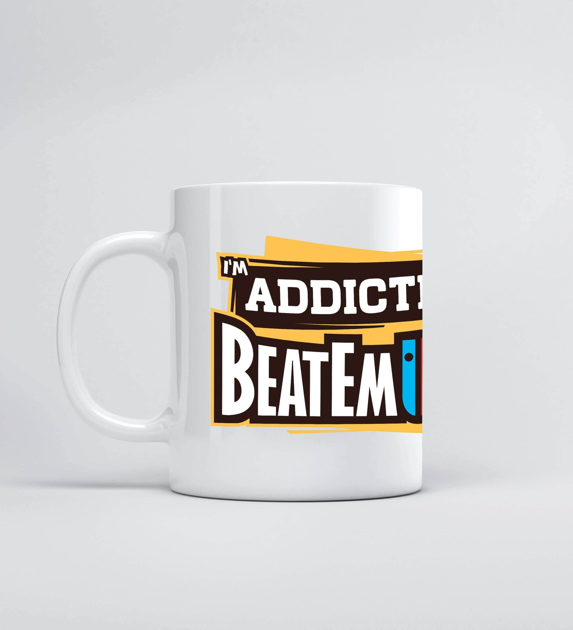 I'm ADDICTED to Beatemups Mugs by Beatemups - Pixel Empire