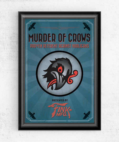 Bioshock Vigor Murder of Crows Posters by The Pixel Empire - Pixel Empire