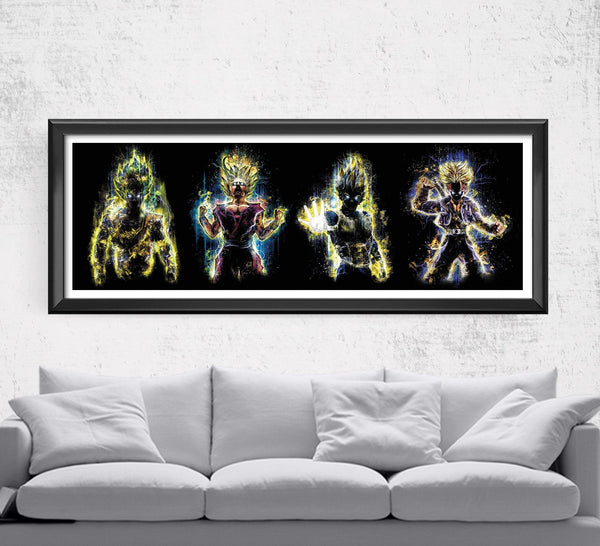 Dragon Ball Z Super Saiyan Limited Print Posters by Barrett Biggers - Pixel Empire