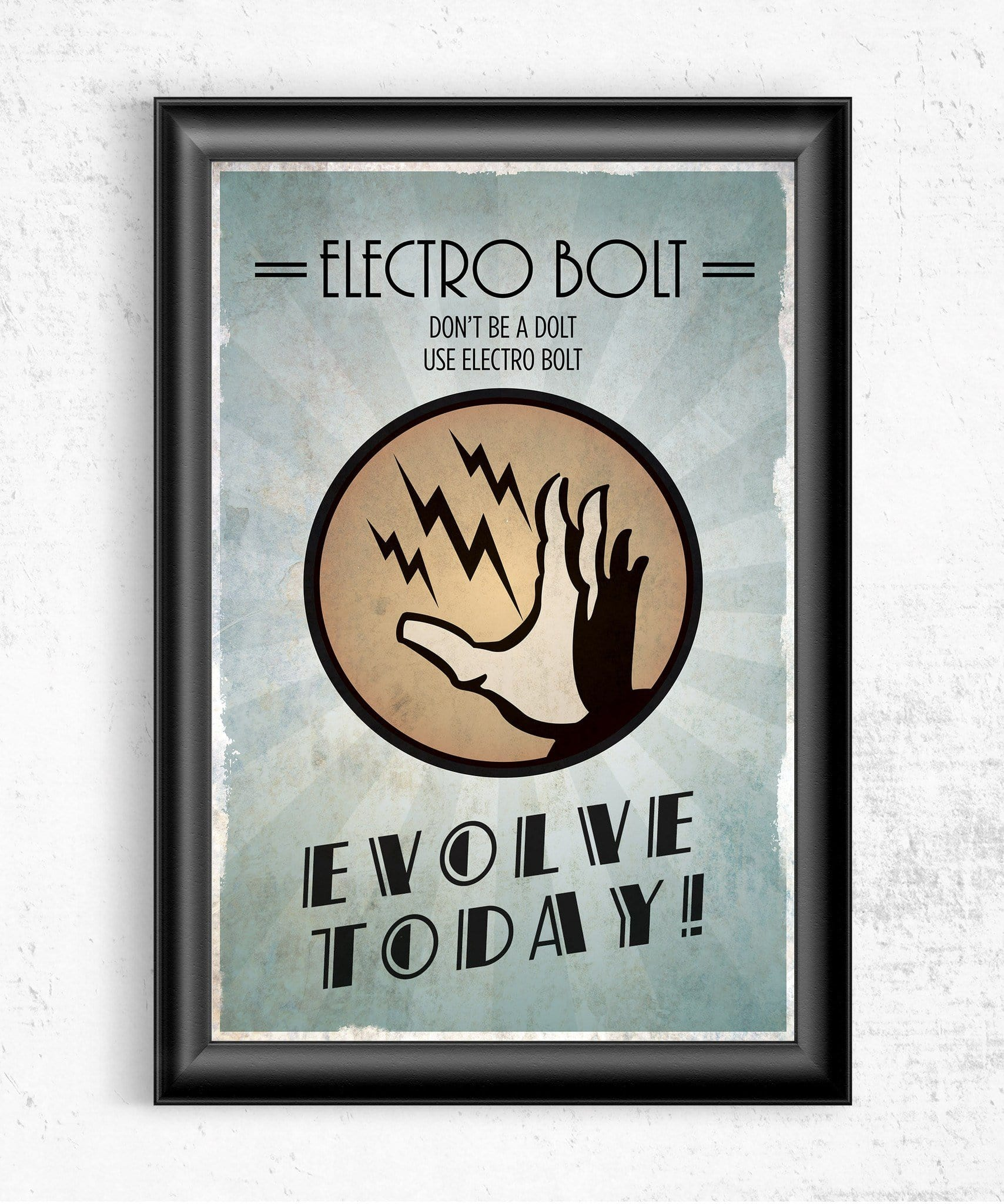 Bioshock Plasmid Electro Bolt Posters by Dylan West - Pixel Empire