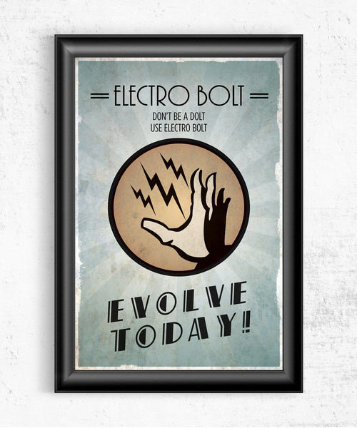 Bioshock Plasmid Electro Bolt Posters- The Pixel Empire