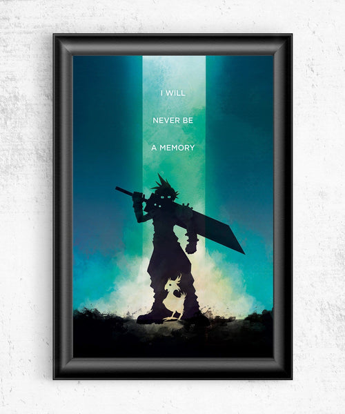 Final Fantasy VII - I Will Never Be a Memory Posters- The Pixel Empire