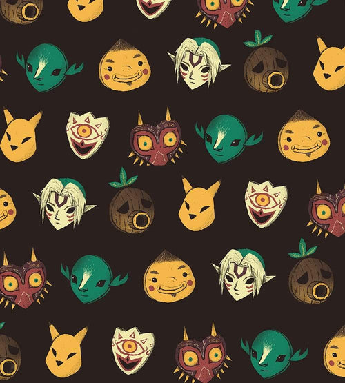 Pattern of Masks Face Masks by Louis Roskosch - Pixel Empire