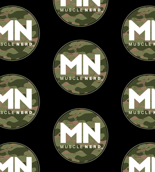 Camo Muscle Nerd Face Masks by Muscle Nerd - Pixel Empire