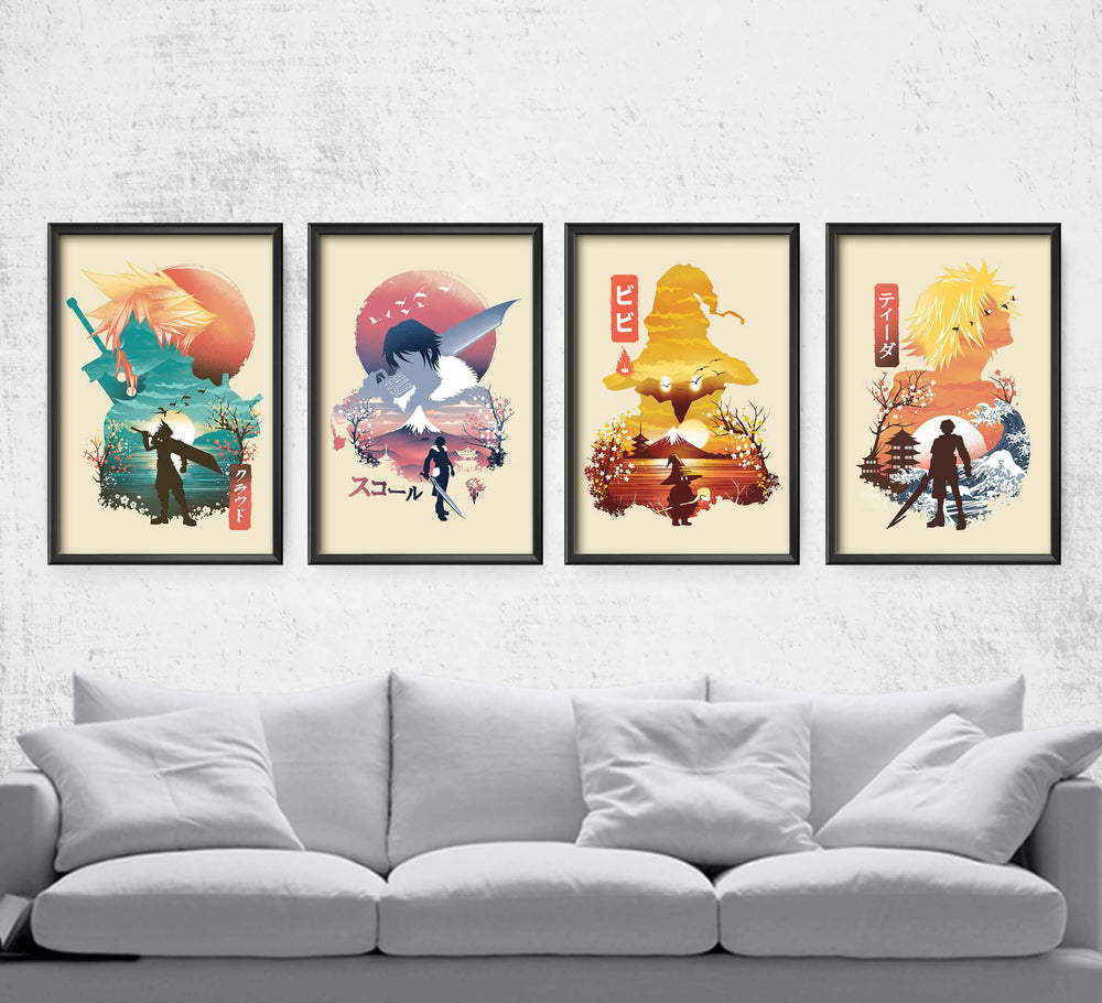 Final Fantasy Ukiyo Series Posters by Dan Elijah Fajardo - Pixel Empire