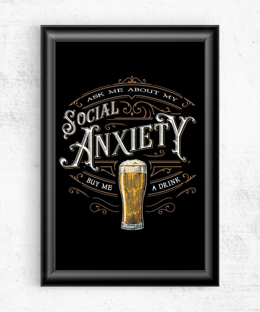 Social Anxiety Posters by Barrett Biggers - Pixel Empire