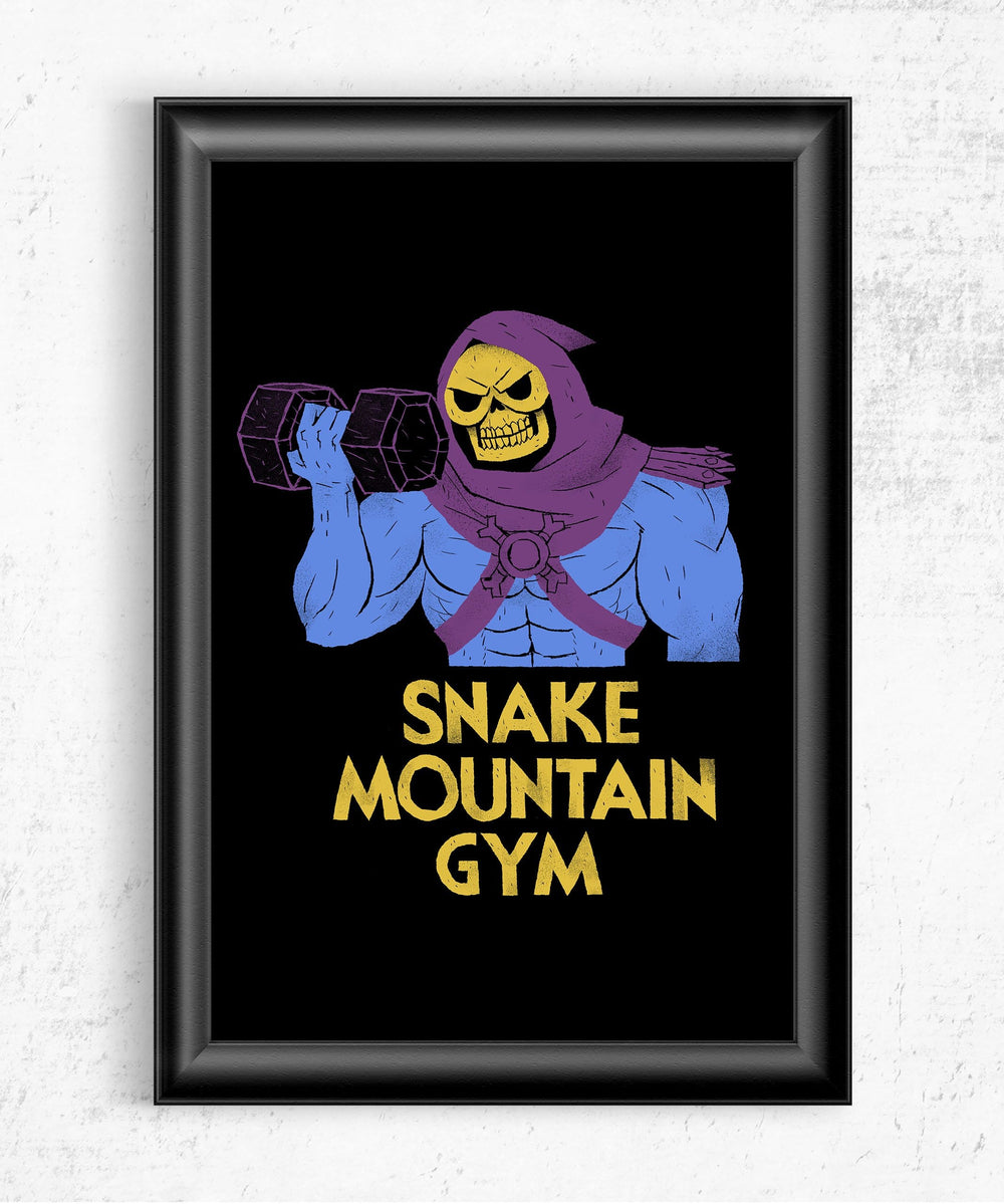 Snake Mountain Gym Posters by Louis Roskosch - Pixel Empire