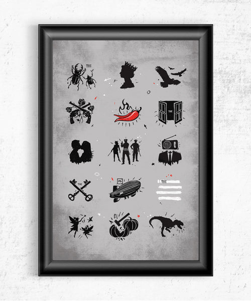 Rock n Roll Pictionary Posters by Grant Shepley - Pixel Empire