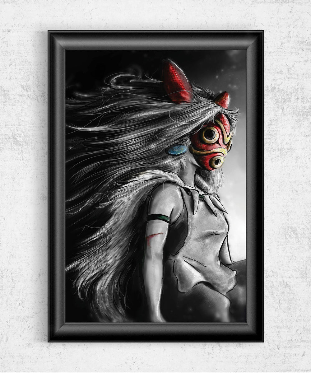 Sans Fury Mononoke Posters by Barrett Biggers - Pixel Empire