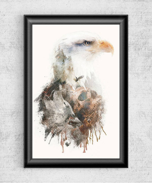 Eagle Has Landed Posters by Barrett Biggers - Pixel Empire