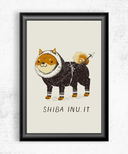 Shiba Inu-It Posters by Louis Roskosch - Pixel Empire