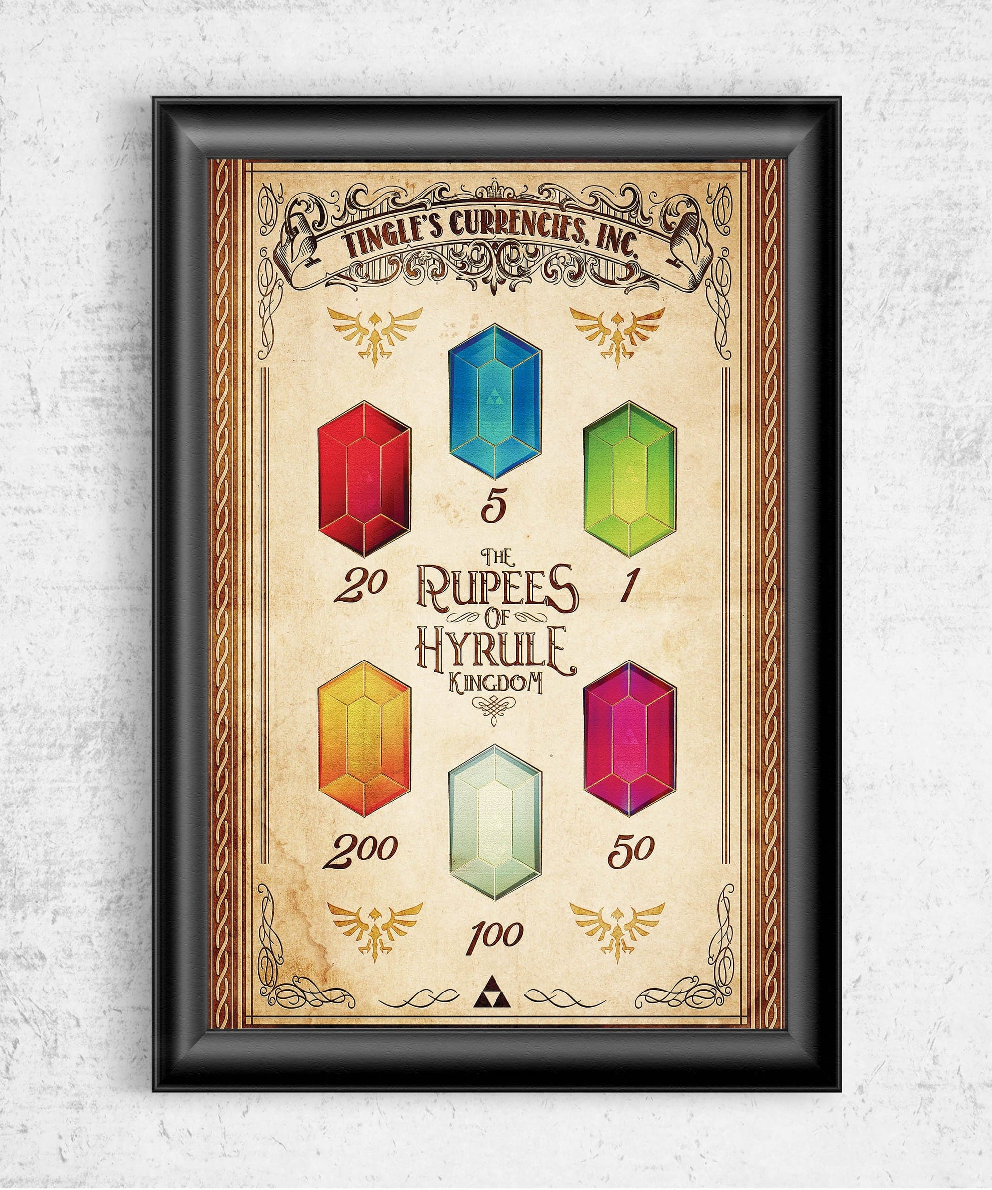 Rupees of Hyrule Posters by Barrett Biggers - Pixel Empire