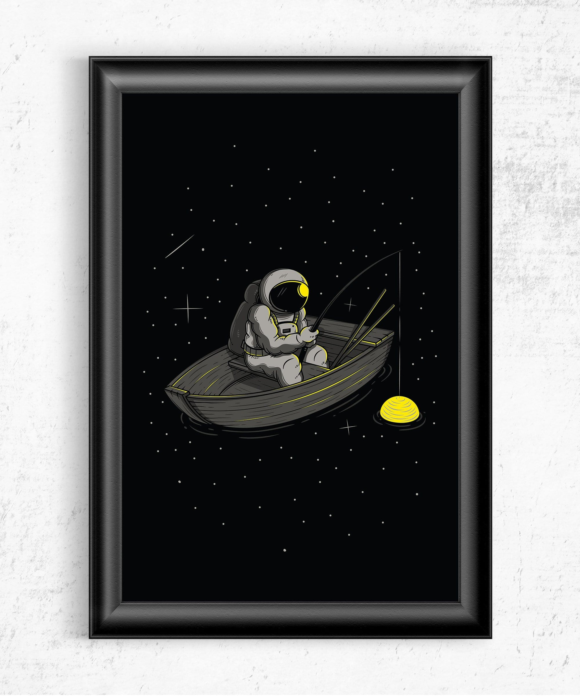 Lonely Fishing Posters by Elia Colombo - Pixel Empire