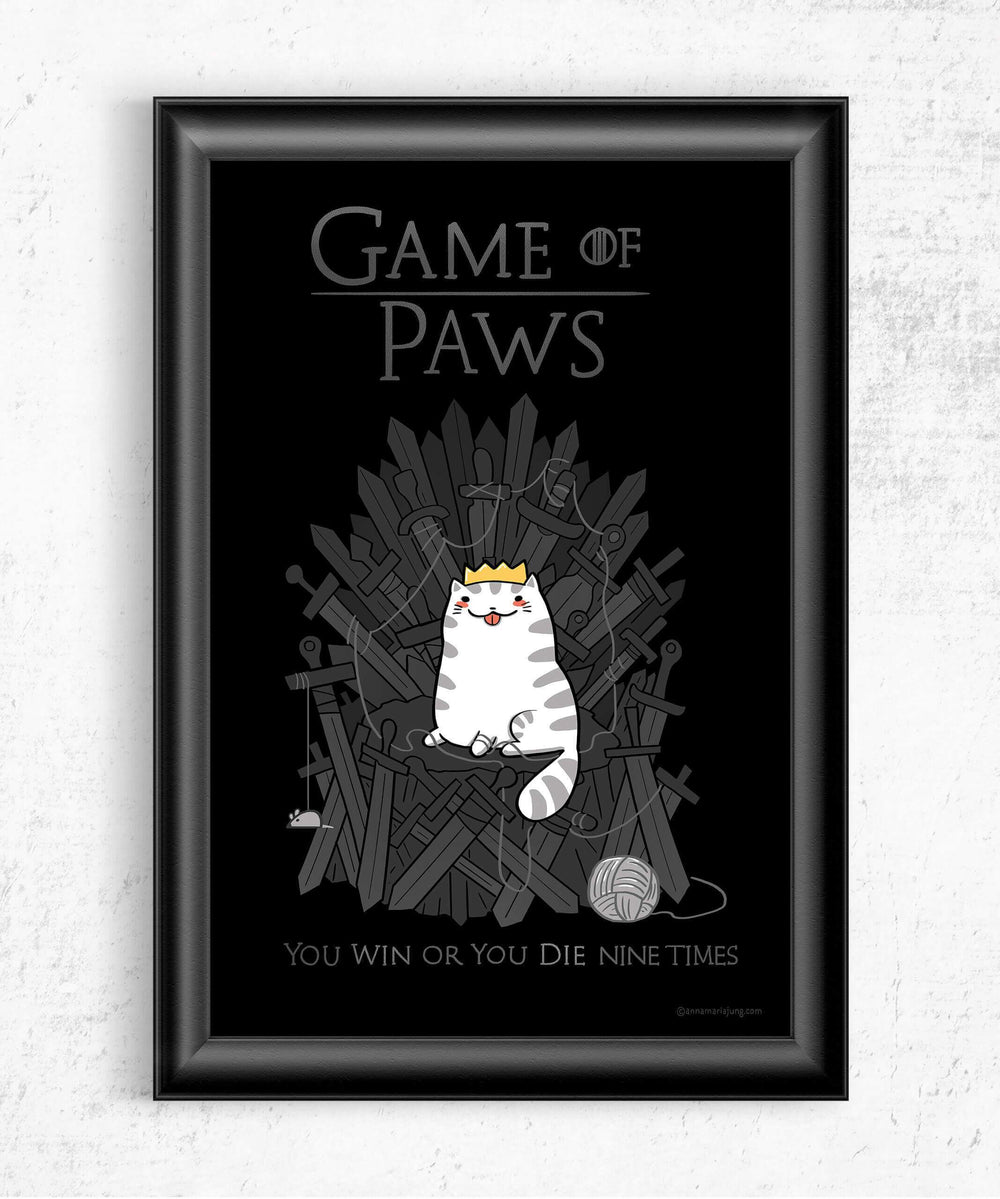 Game of Paws Posters by Anna-Maria Jung - Pixel Empire