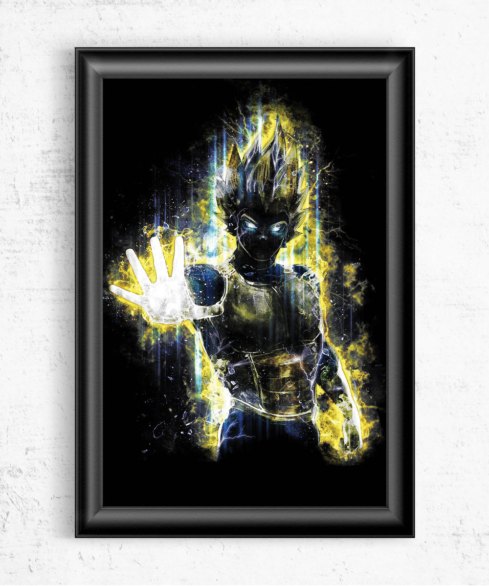 Vegeta Posters by Barrett Biggers - Pixel Empire