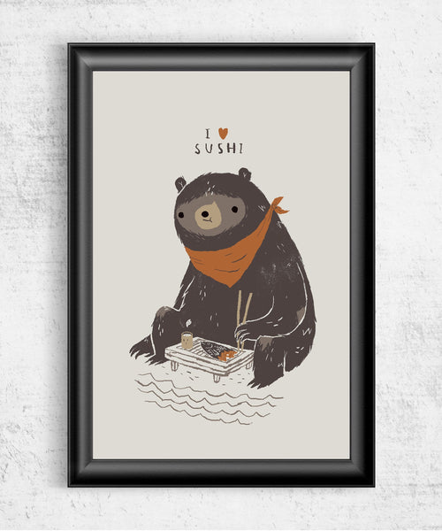Sushi Bear Posters by Louis Roskosch - Pixel Empire