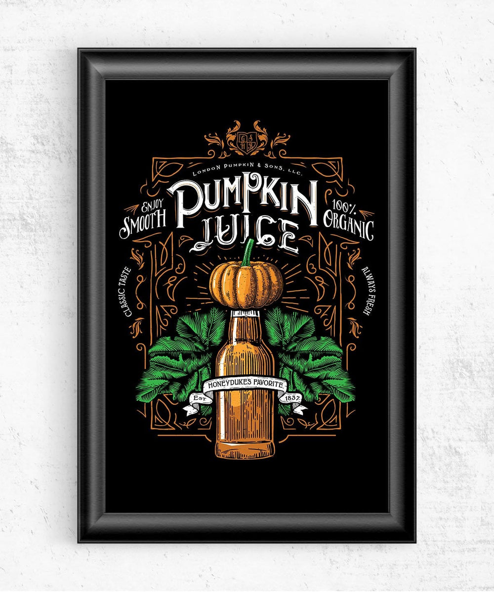 Pumpkin Juice Posters by Barrett Biggers - Pixel Empire