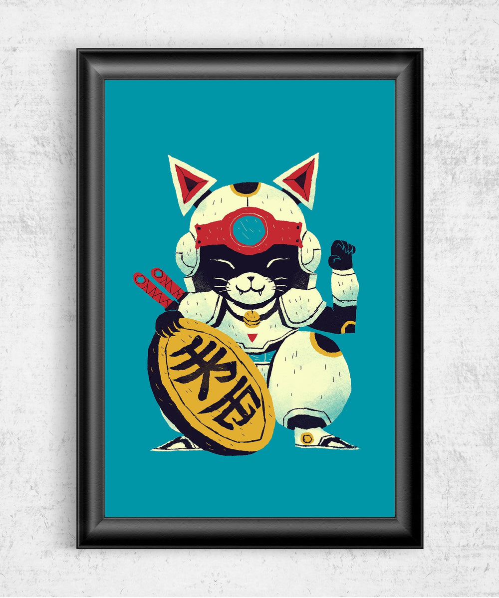 Lucky Pizza Cat Posters by Louis Roskosch - Pixel Empire