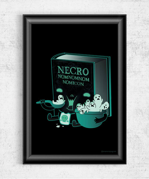 Necro Nomnomnomicon Posters by Anna-Maria Jung - Pixel Empire