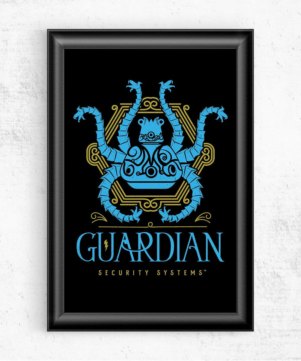 Guardian Security Systems Posters by Barrett Biggers - Pixel Empire