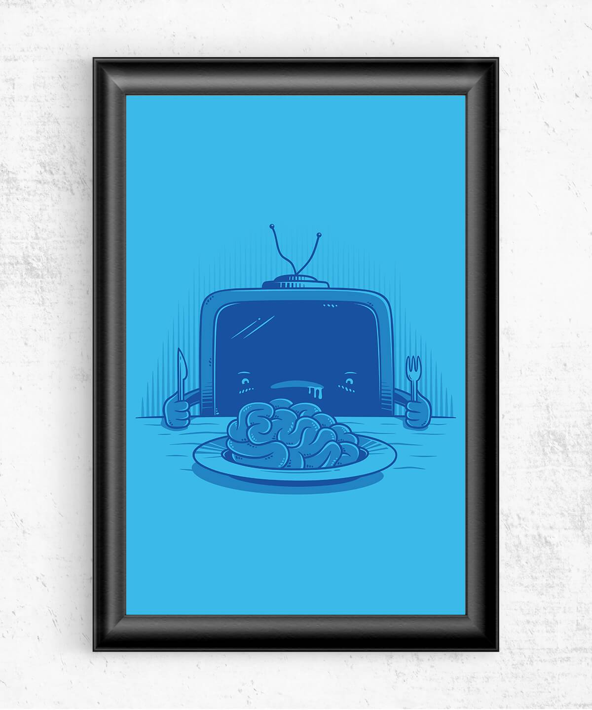 Brain Eater Posters by Elia Colombo - Pixel Empire