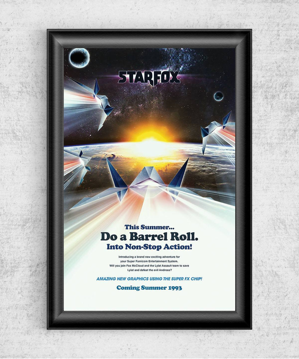 Do a Barrel Roll Posters by Barrett Biggers - Pixel Empire
