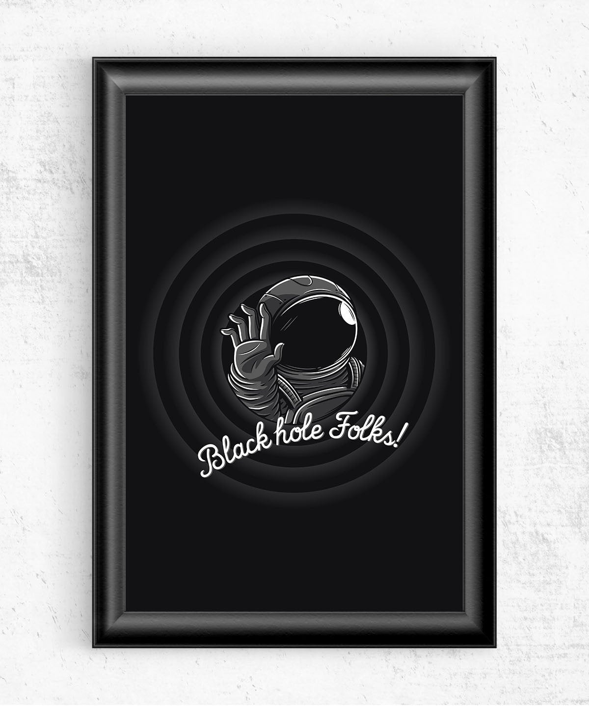 Black Hole Folks Posters by Elia Colombo - Pixel Empire