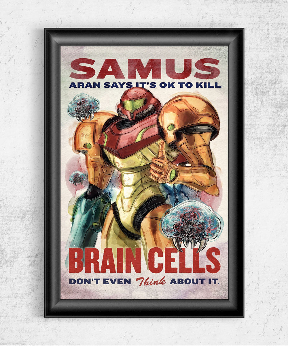 Metroid Propaganda Posters by Barrett Biggers - Pixel Empire