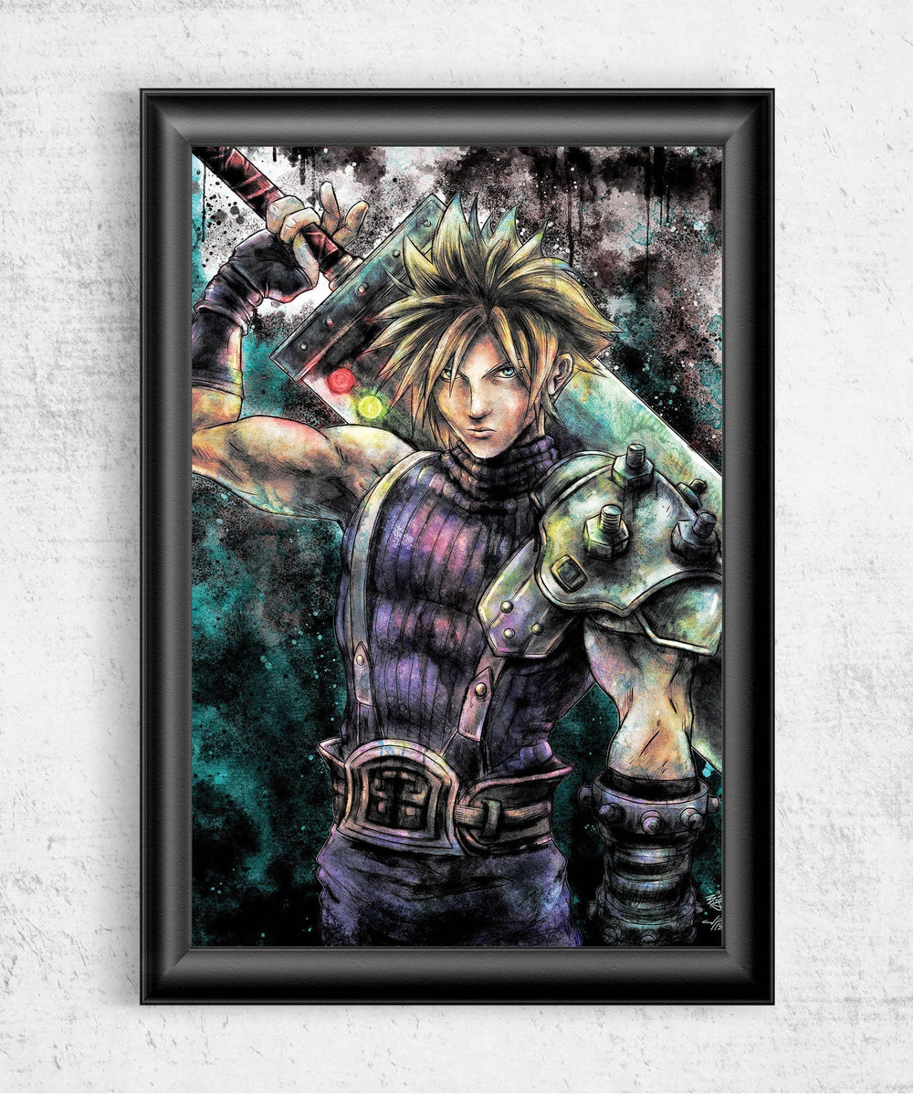 Cloud Strife Portrait Posters by Barrett Biggers - Pixel Empire